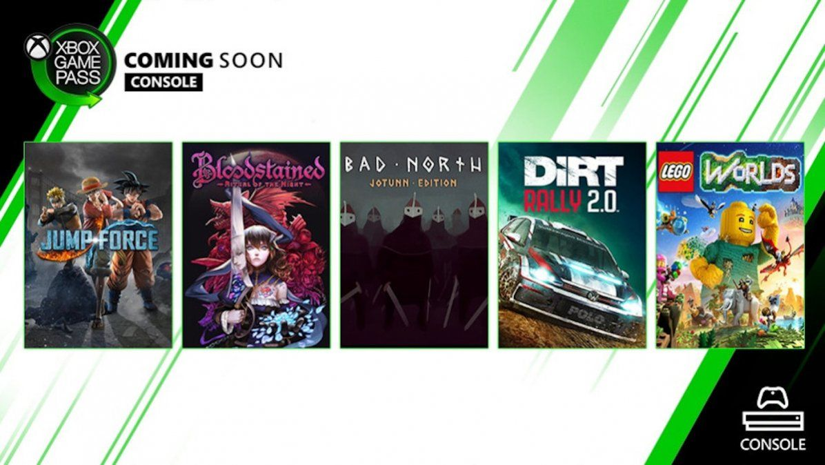Bloodstained, Jump Force y Dirt Rally 2.0 se suman a Xbox Game Pass este mes
